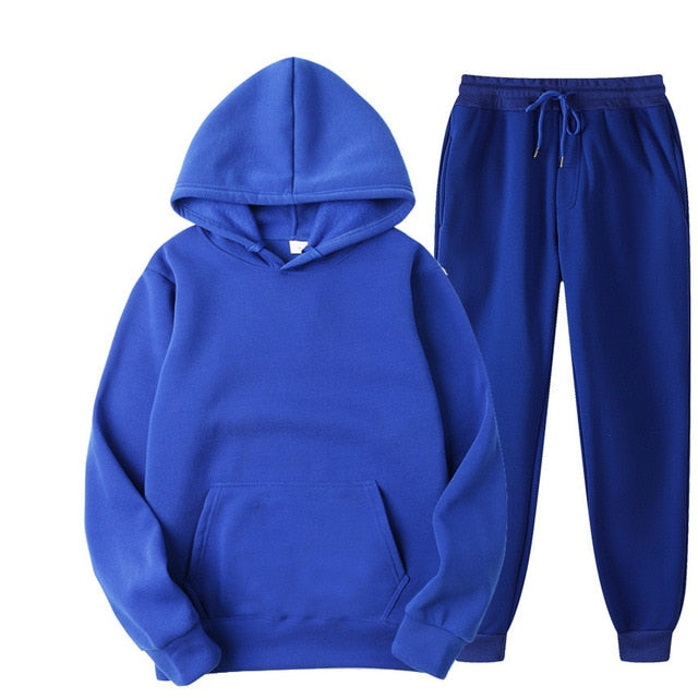 Tracksuit with Hoodie & Joggers in Blue