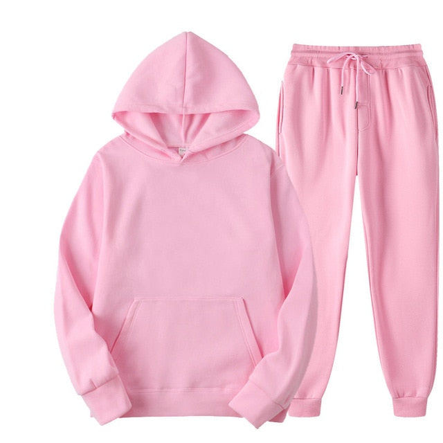 Tracksuit with Hoodie & Joggers in Pink