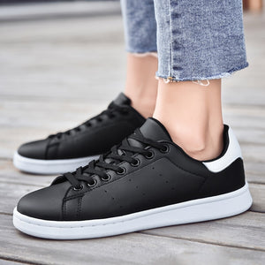 Lace Up Trainers in Black