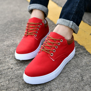 Canvas Trainers in Red