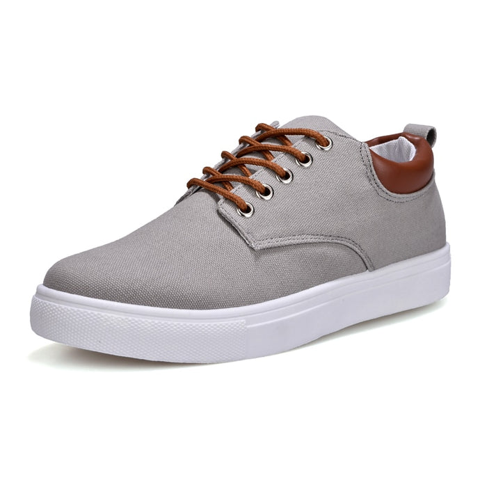 Canvas Trainers in Grey