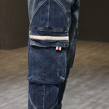 Load image into Gallery viewer, Dark Denim Cargo Pants