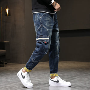 Dark Denim Cargo Pants