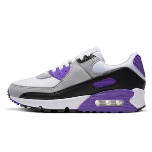 Panelled Running Trainer in Purple & Grey