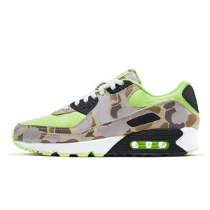 Panelled Running Trainer in Mint w/ Camo Trim