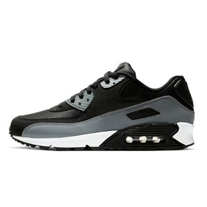 Panelled Running Trainer in Black & Grey