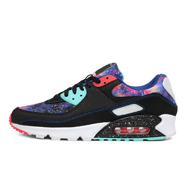 Panelled Running Trainer in Multi Coloured