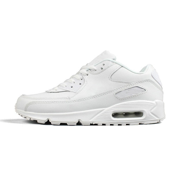 Panelled Running Trainer in White