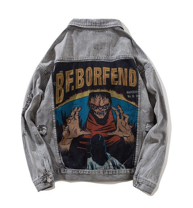 FEND Denim Jacket, Grey
