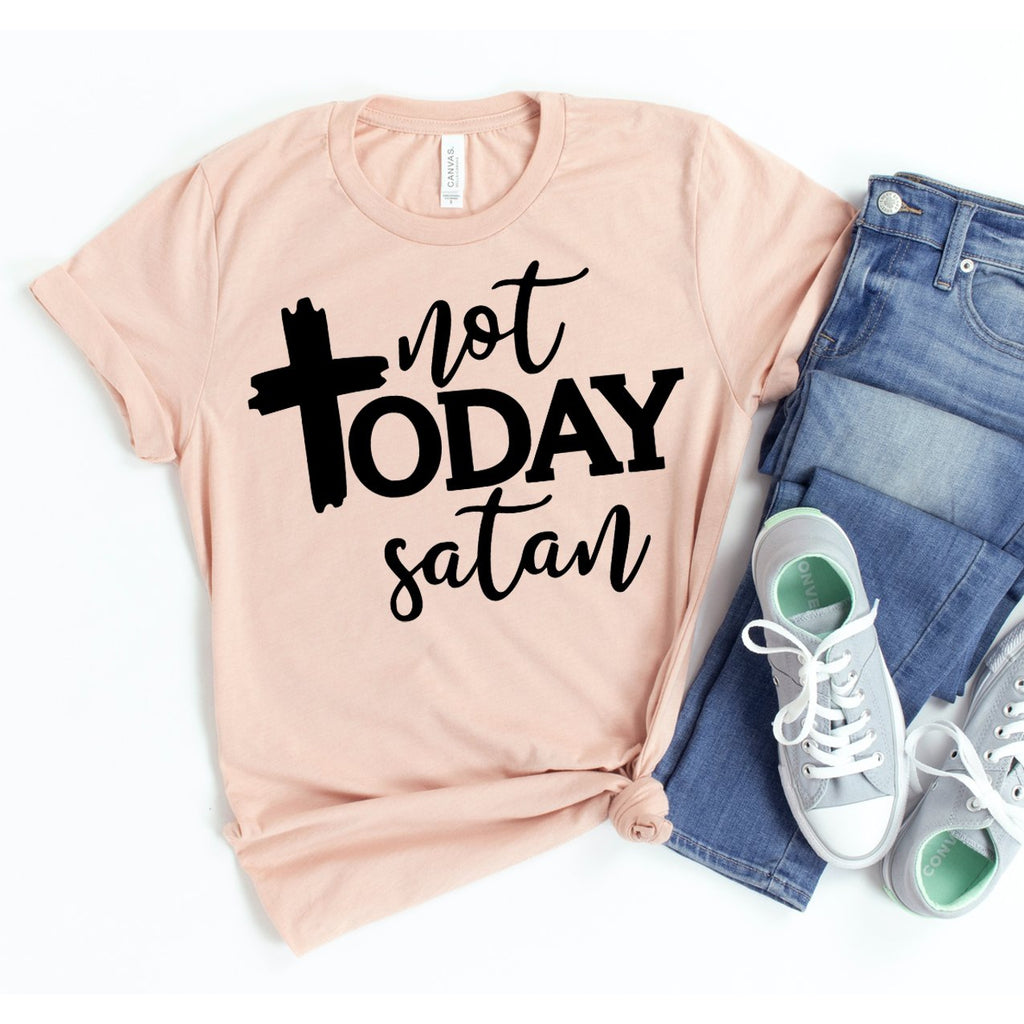 Women's Not Today Satan T-shirt-Habitout