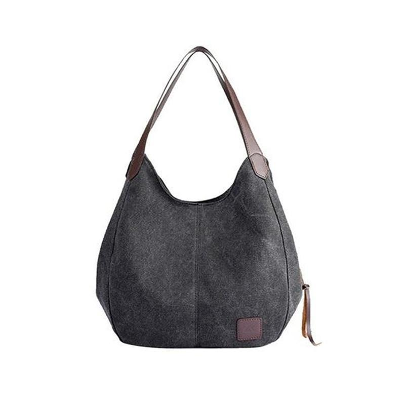 Luxury Canvas Shoulder Bag-Habitout