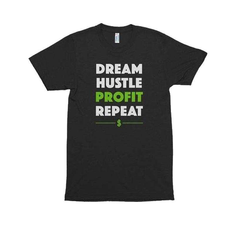Men's Dream Hustle Profit Printed T-shirt-Habitout