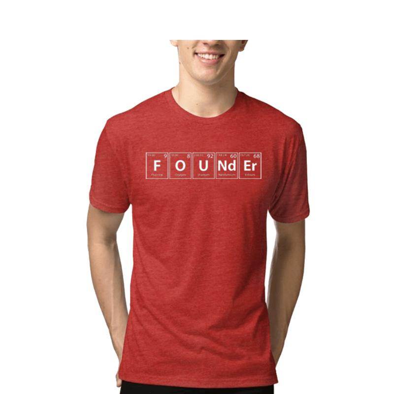 Men's Founder Melange T-shirt Red-Habitout