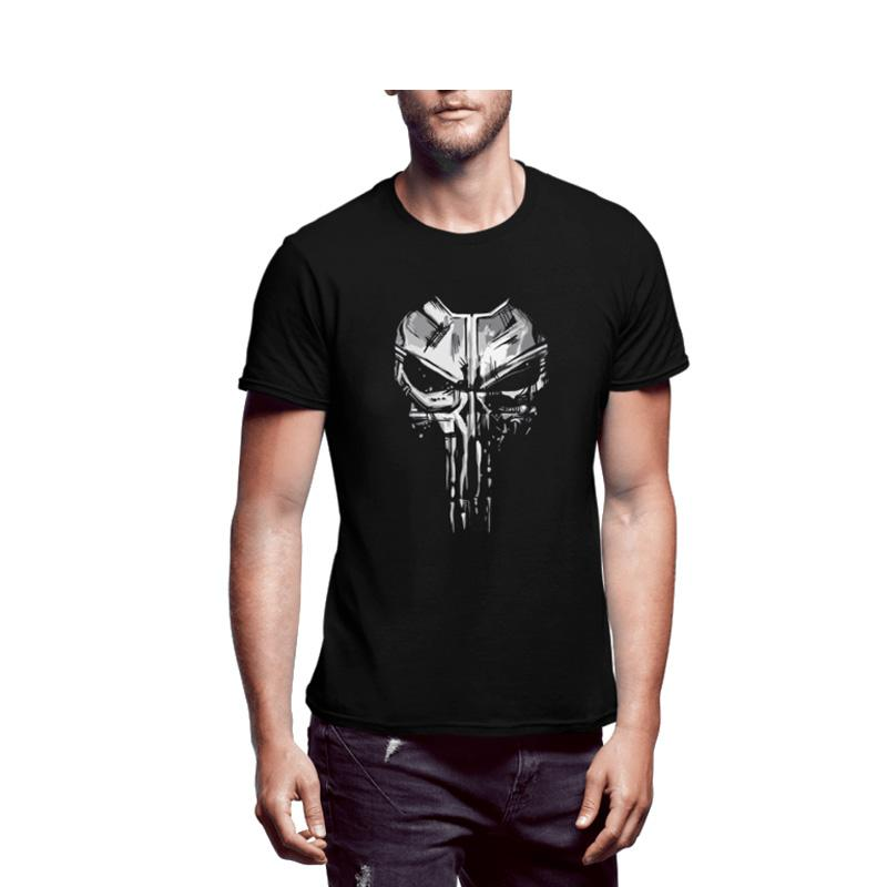Men's Skull Printed Half Sleeves T-shirt-Habitout