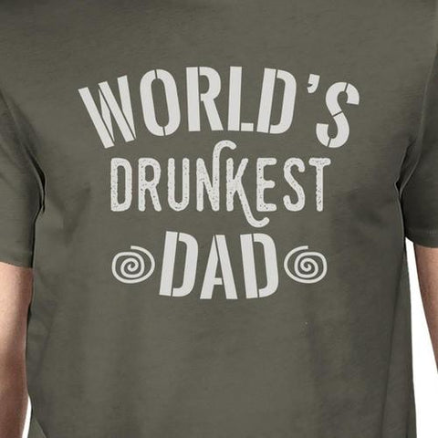 Men's World's Drunkest Dad T-Shirt-Habitout