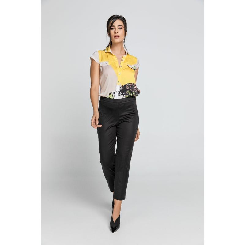 Women's Slim Fit Black Conquista Pants-Habitout