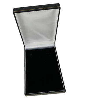 Black Leatherette Necklace Box - Blingkinguk