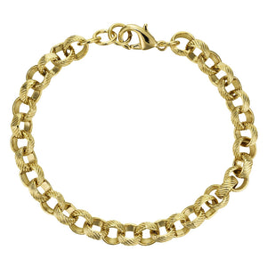 8mm Gold Lined Pattern Belcher Bracelet - Blingkinguk (4370883149867)