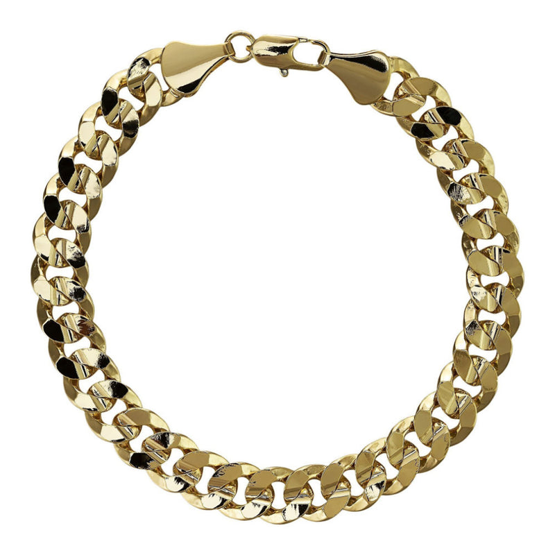 9mm Gold Cuban Bracelet - Blingkinguk (4371299139627)