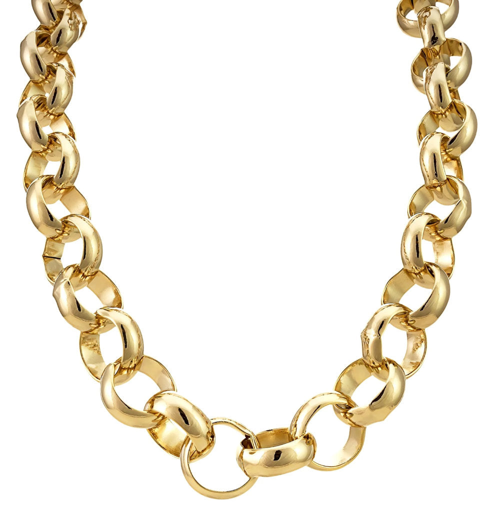 16mm XXL Gold Filled Belcher Chain-Chains-Bling King-24 inch-Bling King
