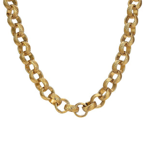 8mm Gold Lined Pattern Belcher Chain - Blingkinguk (4370882756651)