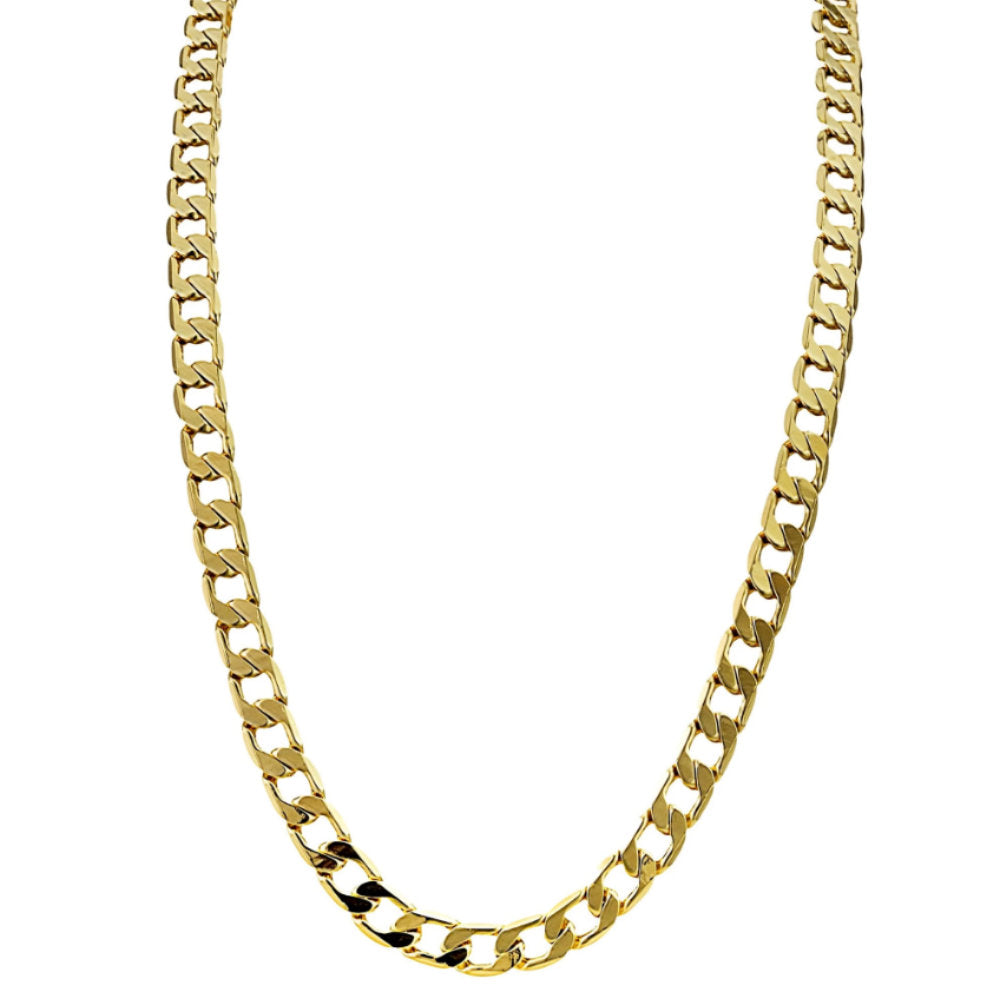 6mm Gold Cuban Chain Necklace and Bracelet Set - Blingkinguk