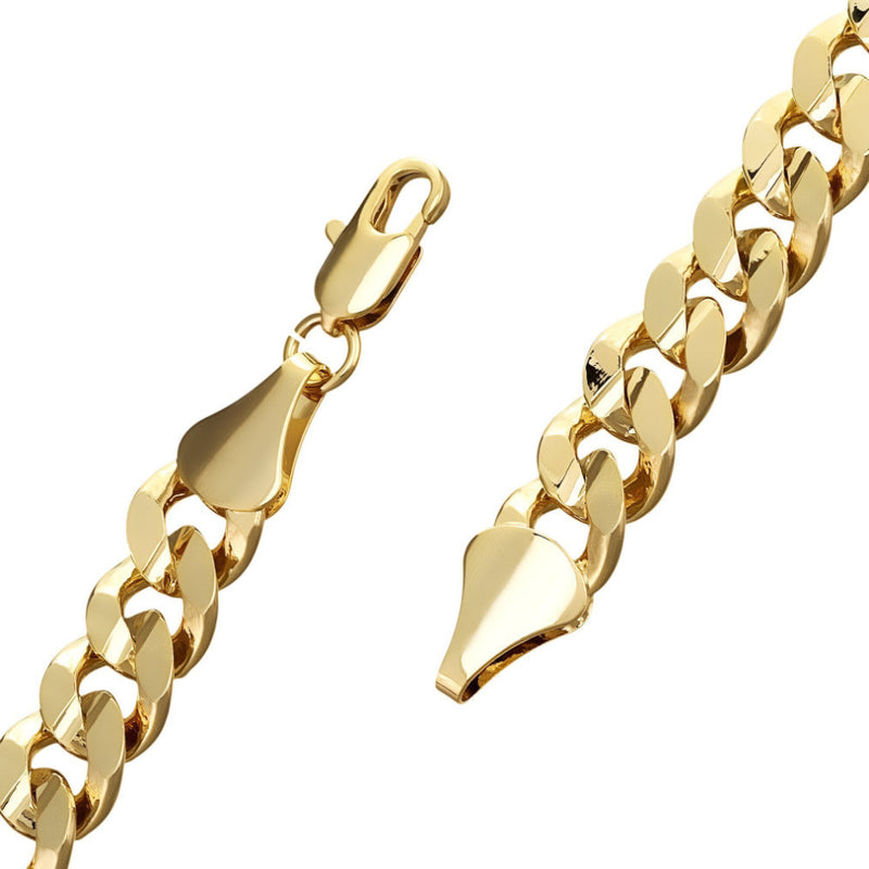 9mm Gold Cuban Bracelet - Blingkinguk