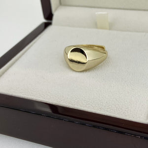 Gold Round Signet Ring - Blingkinguk (4353471053867)