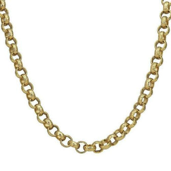 8mm Gold Diamond Cut Pattern Belcher Chain Necklace / Bracelet - Blingkinguk