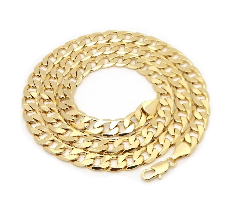 Deluxe 9mm Gold Cuban Chain Necklace-Chains-Bling King-16 inch-Bling King