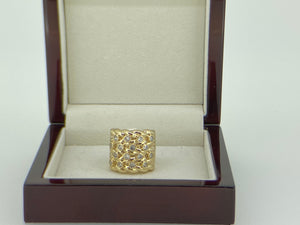 XXL Gold Keeper Ring with Crystals - Blingkinguk
