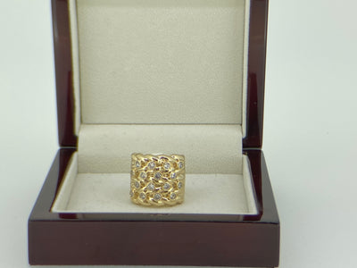 XXL Gold Keeper Ring with Crystals-Rings-The Bling King-Bling King