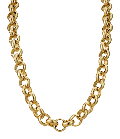 10mm Gold Belcher Chain-Chains-Bling King-24 inch-Bling King