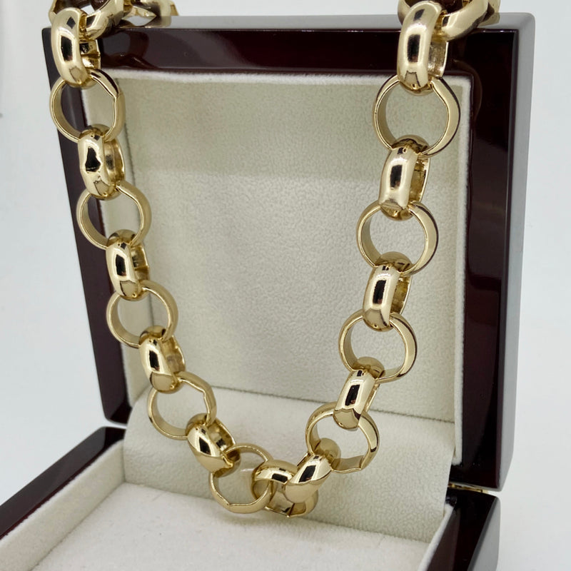16mm XXL Gold Belcher Chain-Chains-Bling King-24 inch-Bling King