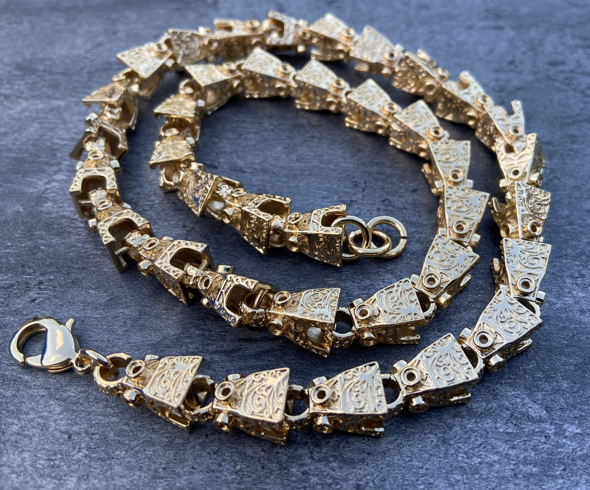 Gold 3D Lego Gold Chain-Chains-Bling King-Bling King
