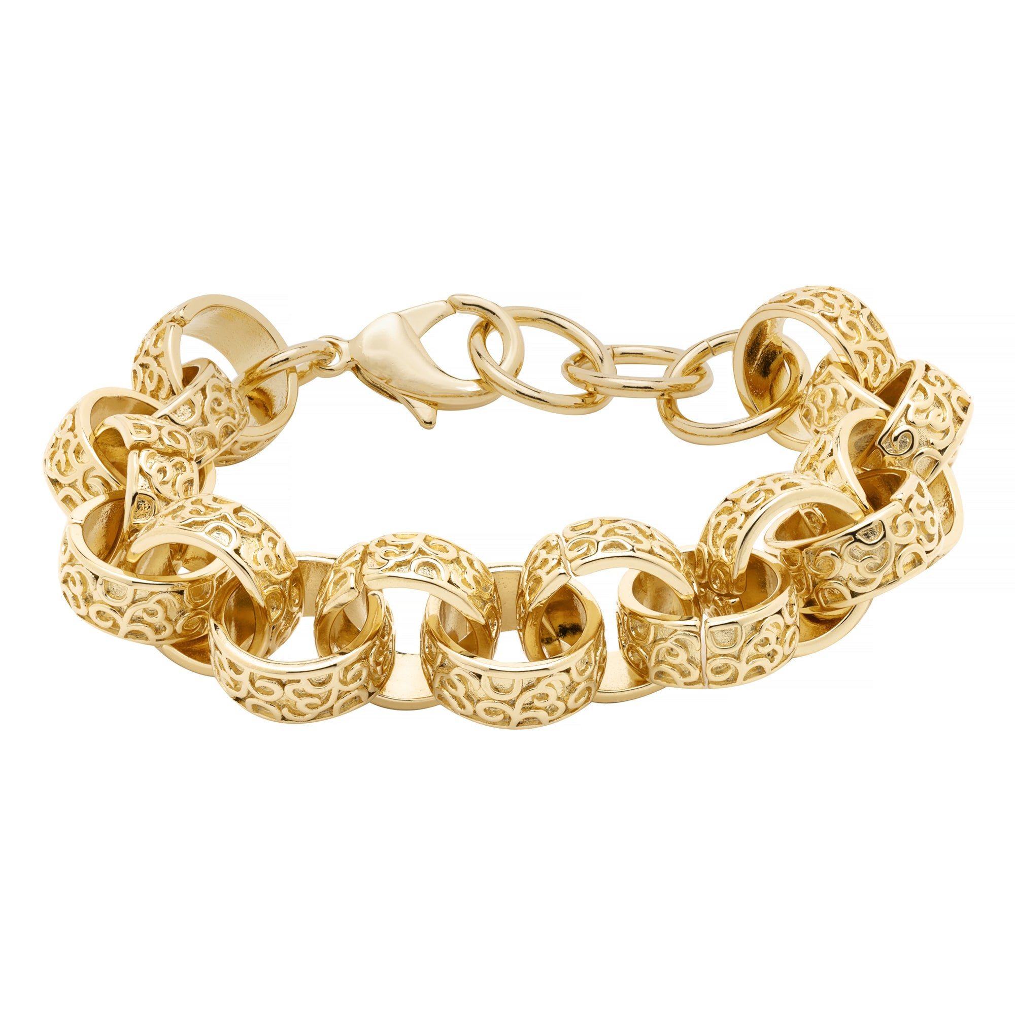 [Upgraded Quality] 15mm Gold XXL Ornate Belcher Bracelet-Bracelets-Bling King-Bling King