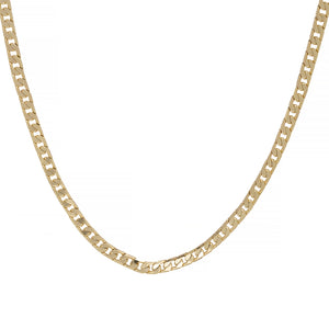 4mm Gold Cuban Chain Necklace and Bracelet Boxed Set