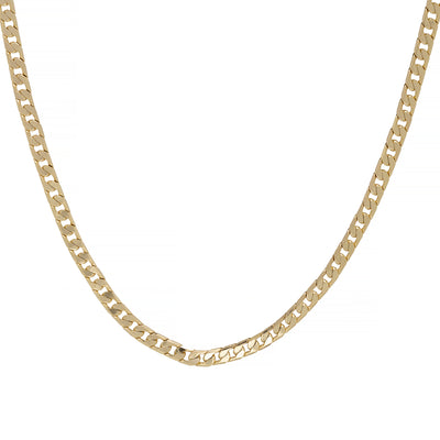 4mm Gold Cuban Chain Necklace-Chains-Bling King-24 inches-Bling King
