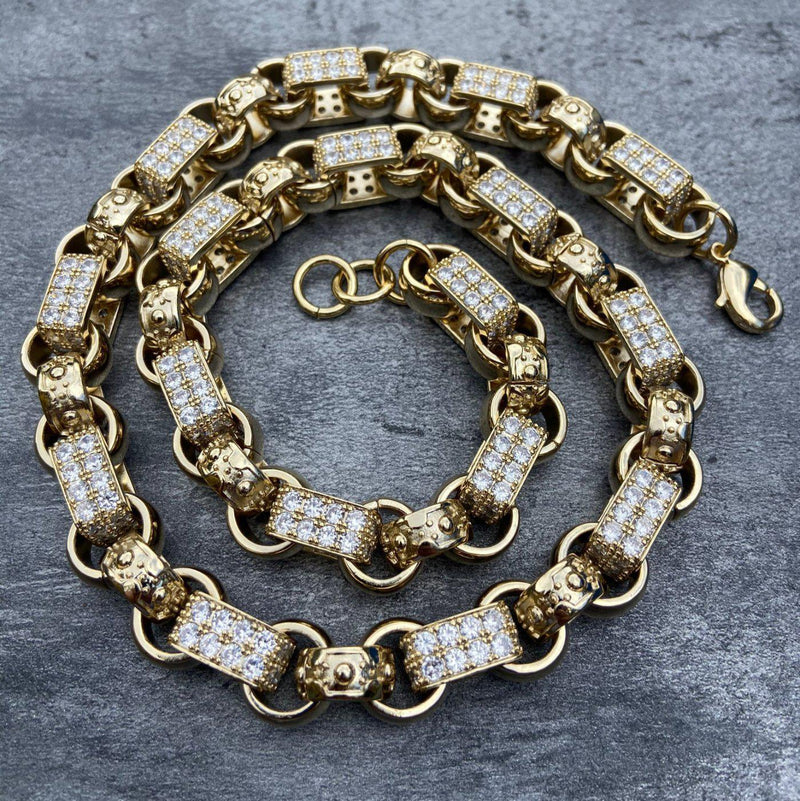 Gold XXL Gypsy Link Belcher Chain-Chain-Bling King-Bling King