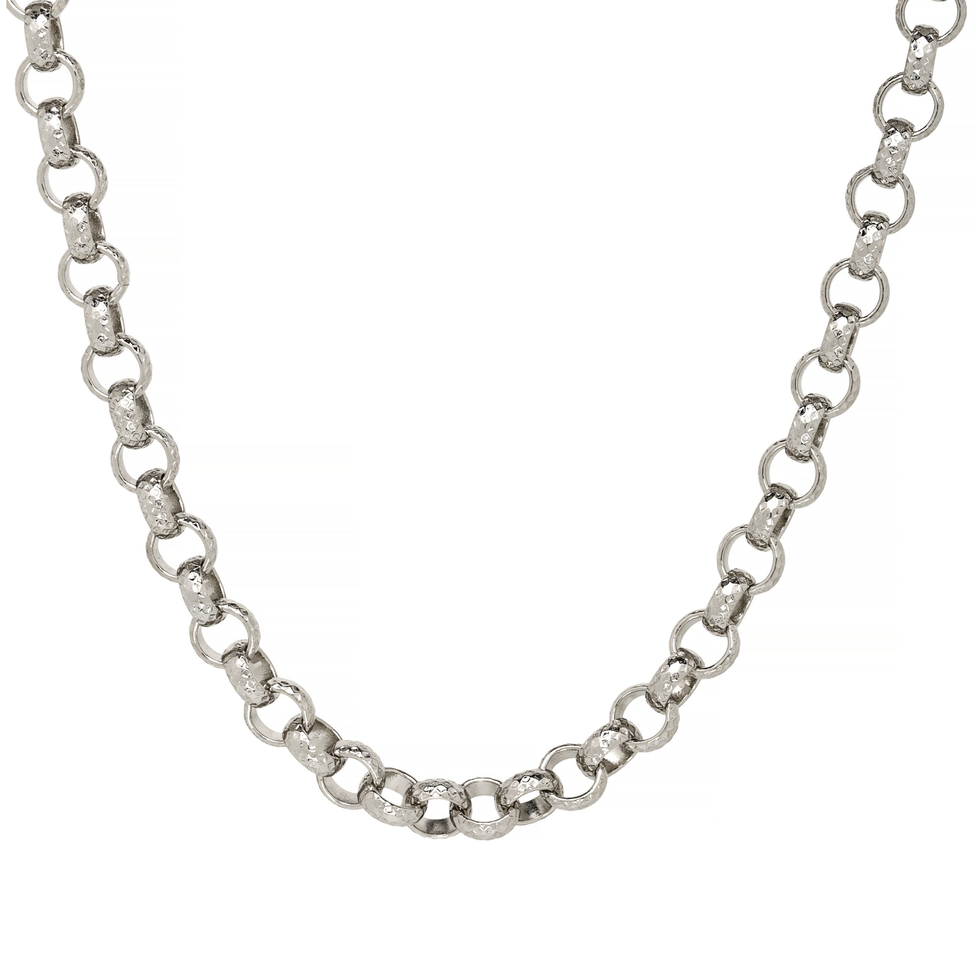 8mm Sterling Silver Filled Diamond Cut Pattern Belcher Chain-Chain-Bling King-24-inch Chain-Bling King