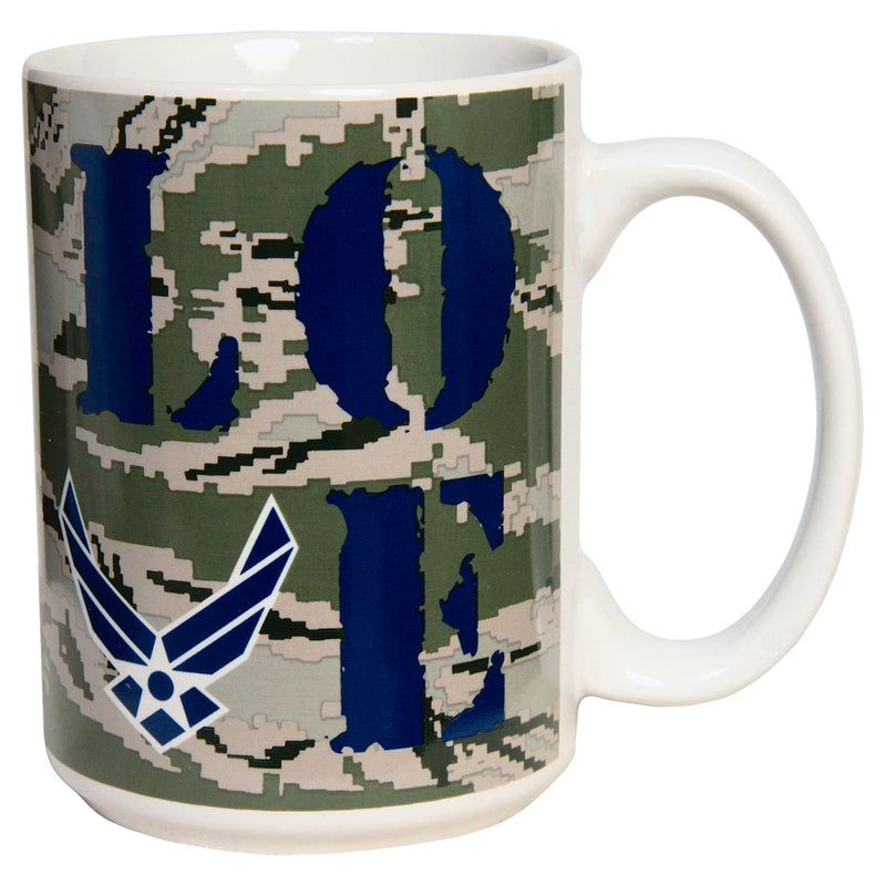 15 OUNCE AIR FORCE CAMO LOVE MUG - UNIFORMED®