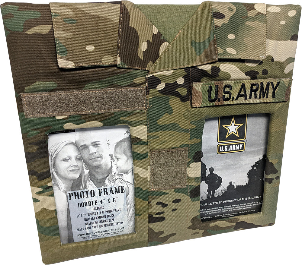 Army Double Picture Frame Uniformed