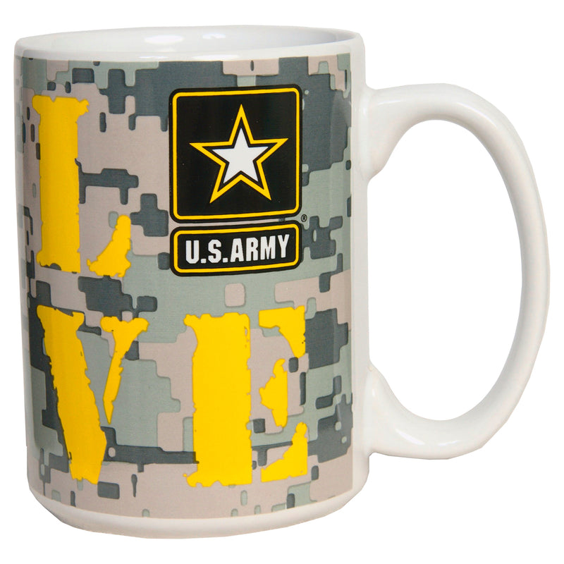 15 OUNCE MUG - ARMY CAMO LOVE PRINT - UNIFORMED®