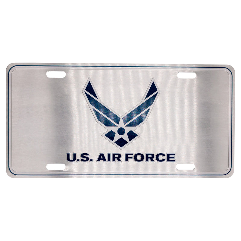 U.S. Air Force 12 x 6 (.7mm) Brushed License Plate - UNIFORMED®