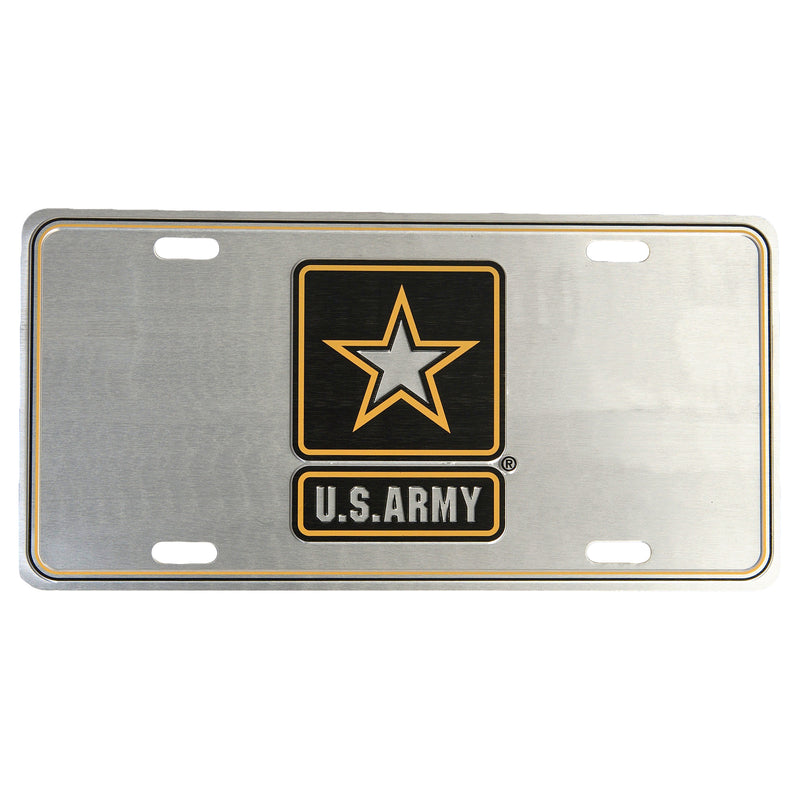 U.S. Army 12 x 6 (.7mm) Brushed License Plate - UNIFORMED®