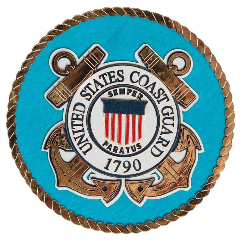 Coast Guard Emblem Die Cut - UNIFORMED®
