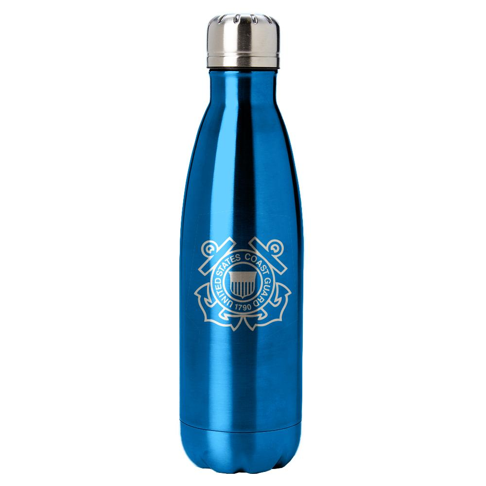 PURE Drinkware 17 oz Bottle - Coast Guard (Water Blue) - UNIFORMED®