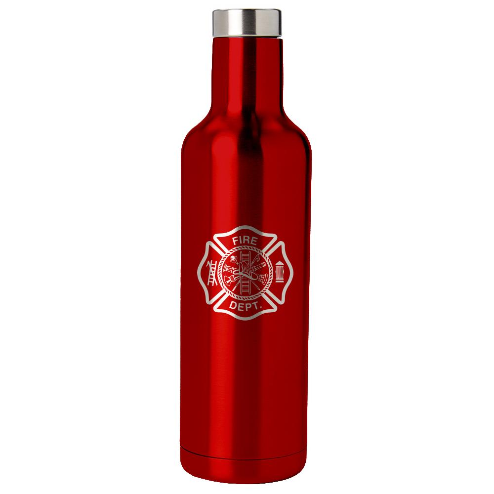 PURE Drinkware 25 oz Bottle - Fire Department (Red) - UNIFORMED®