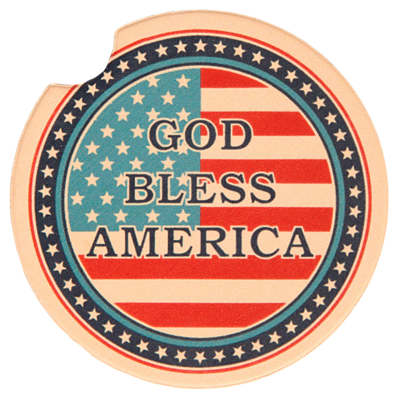 GOD BLESS AMERICA AUTO COASTER - UNIFORMED®