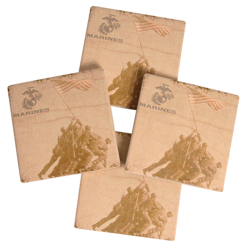 4 PC MARINE COASTER SET - UNIFORMED®